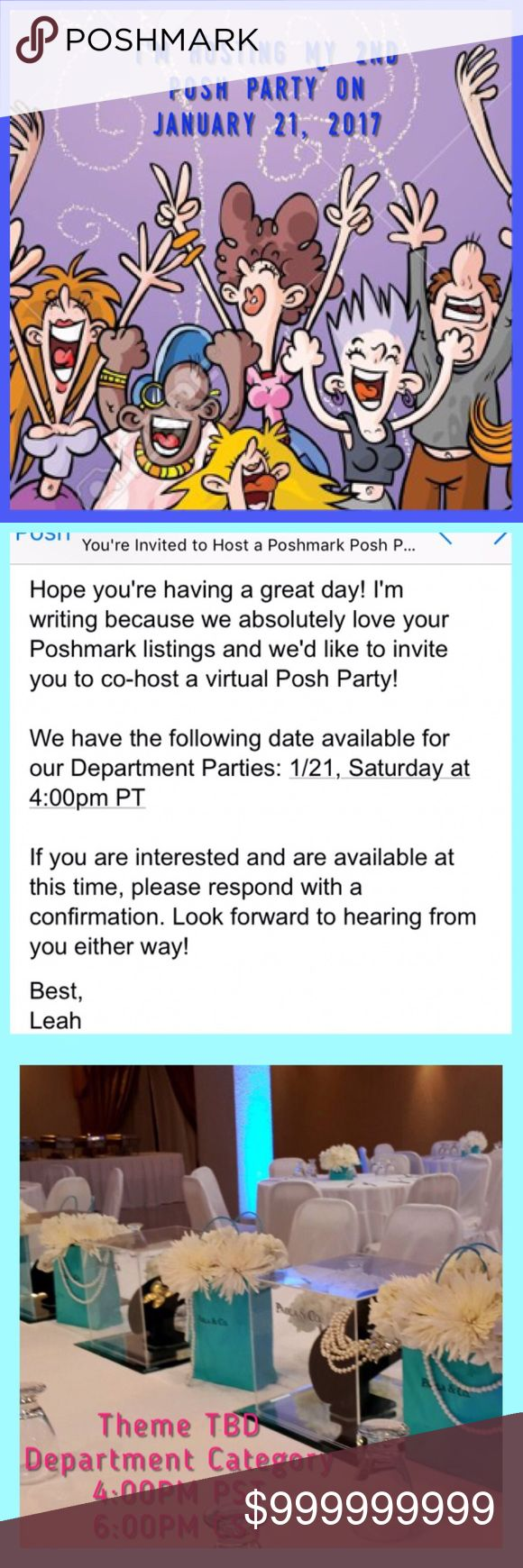 I'm Hosting My 2nd Posh Party with @heatherkzac !! I'm co-hosting a party on January 21. Theme will be Everything Plus Size! Let me know if you have any listings in that category. The after party will turn this into a follow game so stay on board if you want to play! Other