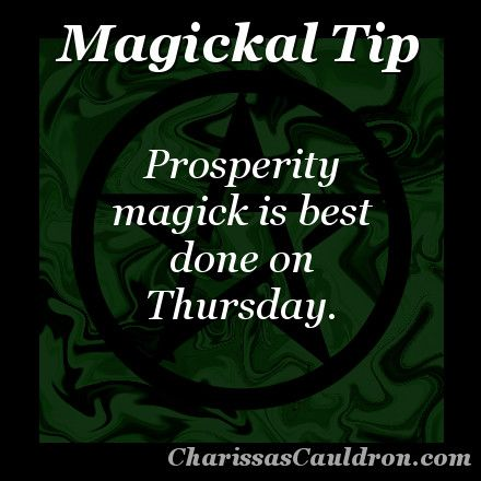 Magickal Tip - Prosperous Thursday –  Magick is brewing  ✯ Visit lifespiritssocietyofmagick.com for love spells, wealth and prosperity spells, healing spells, beauty spells,  Wiccan, Voodoo, Hoodoo, root worker and LOA info.