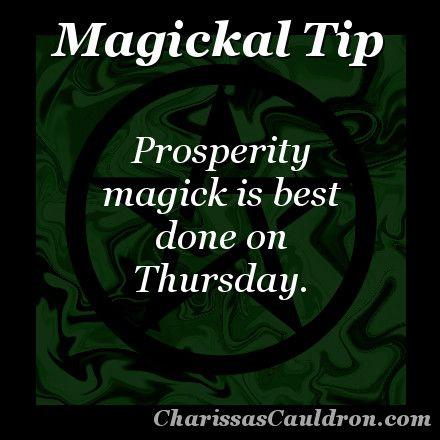 Magickal Tip - Prosperous Thursday – Charissa's Cauldron