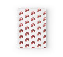 Hardcover Journal @redbubble IT IS NOT ROLLING STONES RELATED A big mouth with four teeth and a tongue reminds of The Rolling Stones logo but it's badly drawn and much more dirty. An omage, a tribute to the greatest band in the world. #rollingstones #tongue #fashion #cool #love #badlydrawn #red #white #keith #richards #mick #jagger #1962 #logo #pattern #music #rock #roll #alternative #fake #tribute #multiverse #summer #concert #parallel #universe #psichedelic