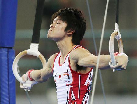 男子個人総合決勝、内村航平のつり輪の演技=9日、中国・南寧 ▼10Oct2014時事通信|王者らしい6種目=完璧な着地で流れ-世界体操 http://www.jiji.com/jc/zc?k=201410/2014100900962 #Kohei_Uchimura #内村航平 #Rings_gymnastics #吊环 #吊環 #2014_World_Artistic_Gymnastics_Championships #2014年世界竞技体操锦标赛
