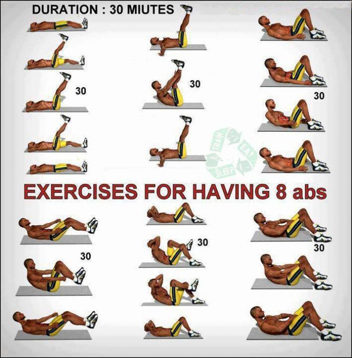 Exercises For Having 8 Abs - Healthy Fitness Workout ...