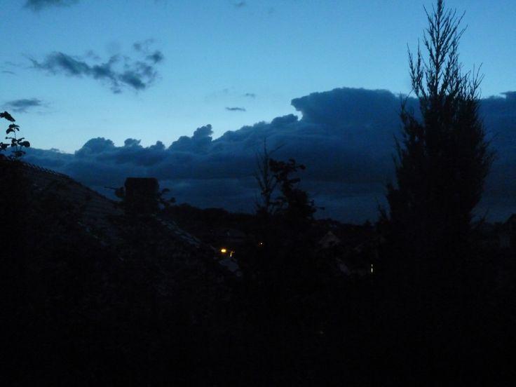 Niebo po zachodzie słońca  #niebo #chmury