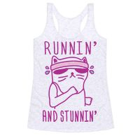 Runnin' And Stunnin' Cat Racerback