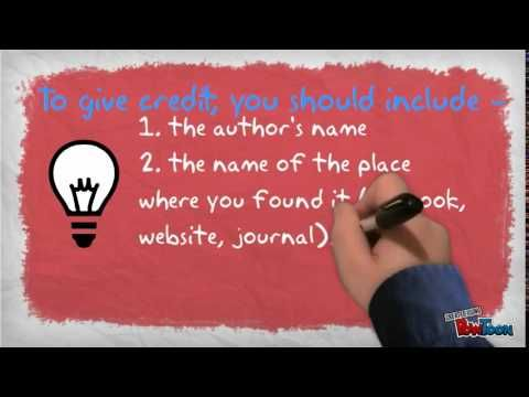 Great video for teaching kids about copyright and plagiarism.