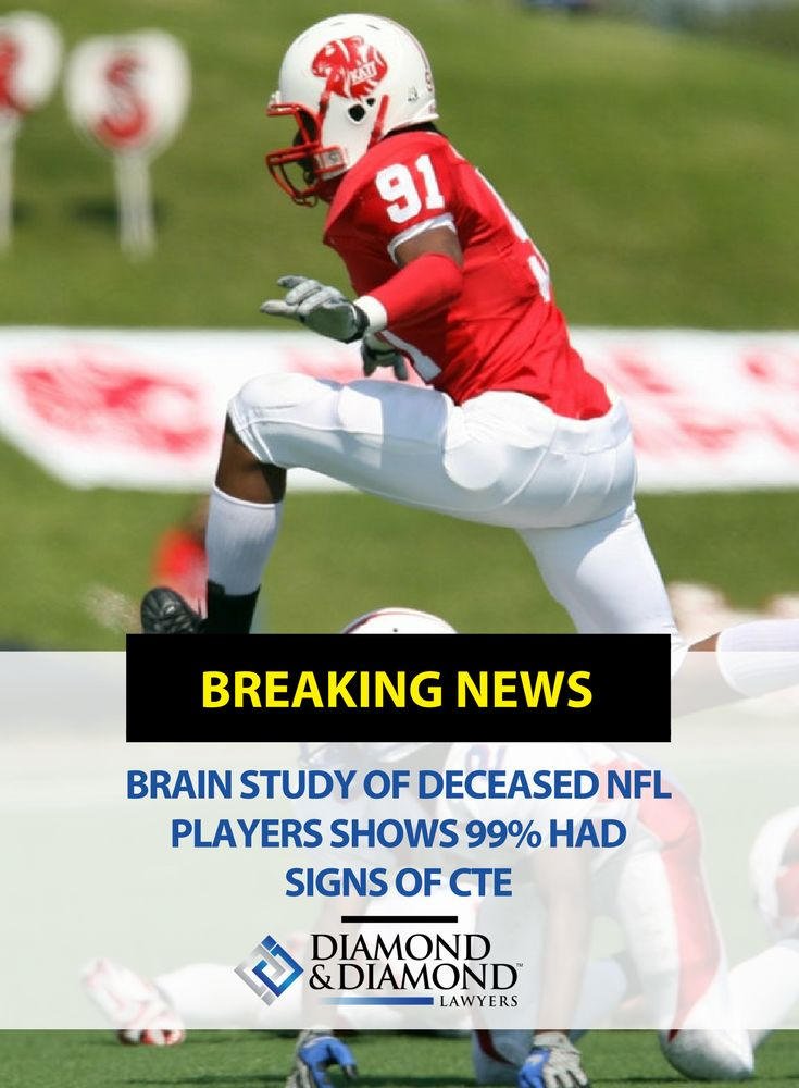 Is the NFL doing enough to protect players from suffering diseases linked to repeated head injuries?  A study published by the Boston University School of Medicine studying the brains of 202 former high school, college, and professional football players, suggests there is a relationship between exposure to football and the risk of developing chronic traumatic encephalopathy (CTE). Read more about it here.