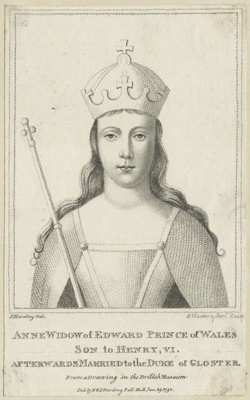 Lady Anne Neville became Princess of Wales after marrying Edward of Westminster, and then Queen after marrying King Richard III. As a member of the powerful House of Neville, she was caught up in the Wars of the Roses fought between the House of York and House of Lancaster for the English crown. Her father Warwick betrothed her as a girl to Edward, Prince of Wales to seal an alliance to the House of Lancaster and continue the civil war between the two houses.