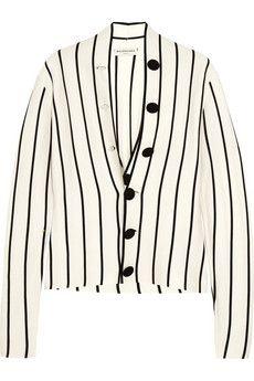 Balenciaga Striped silk-jersey cardigan | NET-A-PORTER