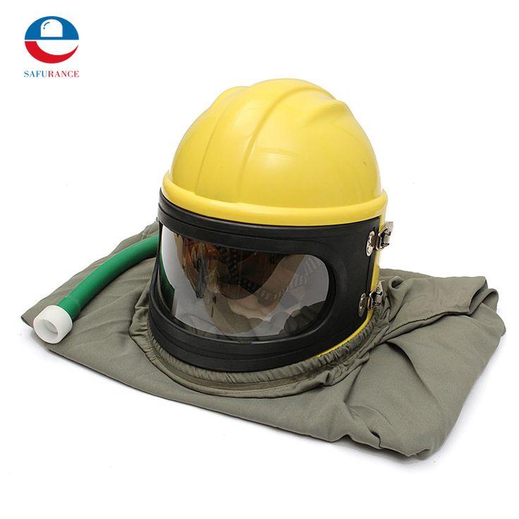 NEW  PVC ABS Material Sand Blast Hood Protector Sandblast Sandblasting Helmet + Pipe + Cloak+ 6 Lenses Free Shipping