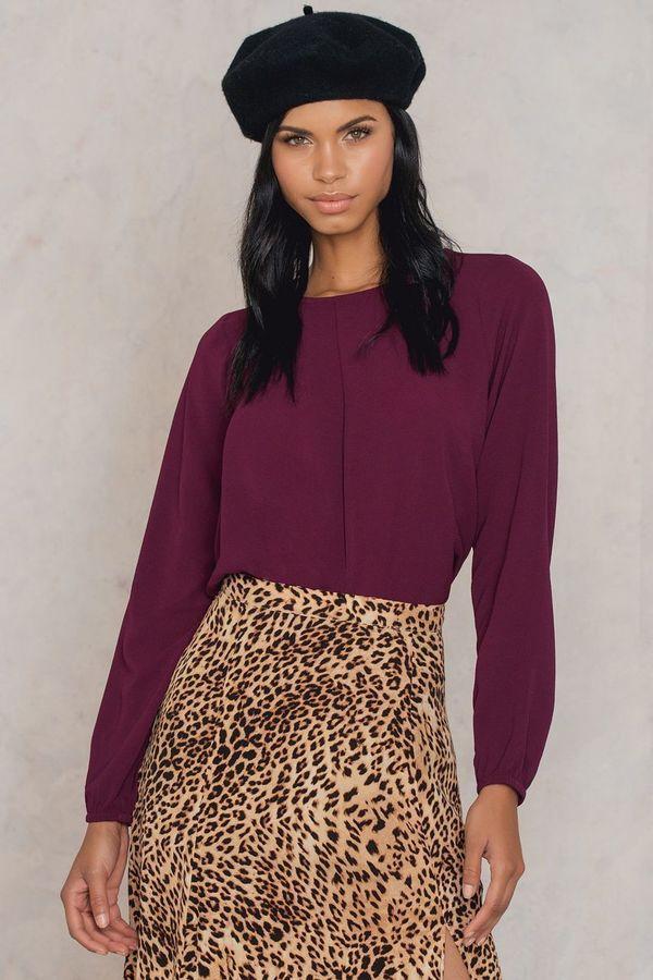 Rut & Circle Leopard Blouse