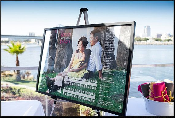 Photo Seating Chart with reception layout by nguyensarah on Etsy, $65.00