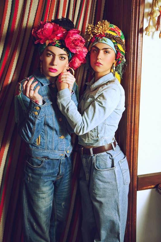 FRIDOMODA Photographer - Anastasia Kashina. Style & make up - Kristina Melnik. Models - Antonina Guretskaya, Kristina Melnik.