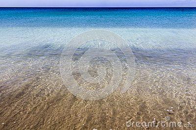 Wonderful colors of water in Fuerteventura