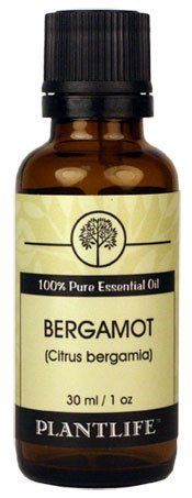 Bergamot 100% Pure Essential Oil - 30 ml by Plantlife. $26.70. Bergamot is used and favored among many aromatherapist. It can be diffused into the air or added to bath water, massage oils, skin lotions, potpourri, and perfumes. Is the the flavoring behind Earl Grey Tea and is one of the main ingredients of eau de Cologne. Is good for clearing acne, boils, eczema, dermatitis and psoriasis and helps varicose ulcers and cold sores.