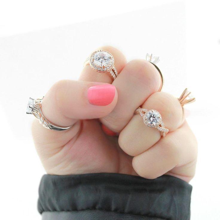 78 best Rose Gold Rings images on Pinterest Rose gold rings