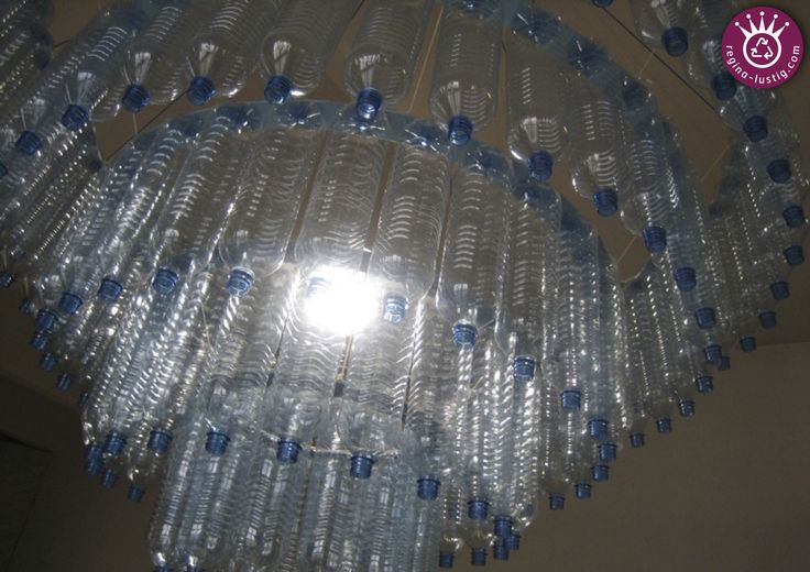 Luster, Upcycling, Recycling, DIY, PET-bottle, PET-Flasche, Lampe ...