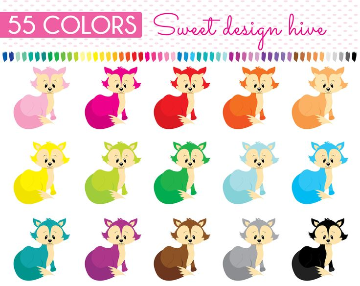 Fox Clipart,  Woodland Animal Clipart, Baby Fox, Planner Stickers, scrapbooking, Commercial Use, PL0054 by Sweetdesignhive on Etsy