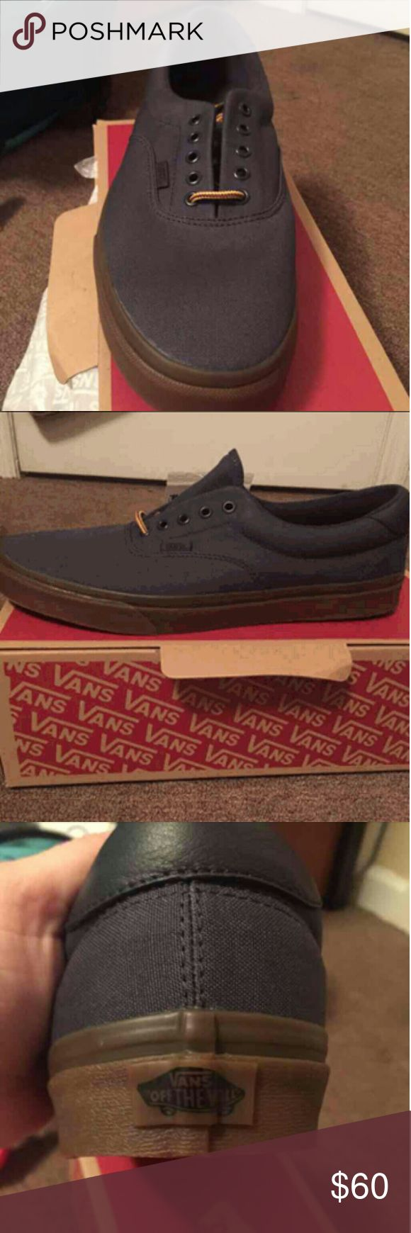Men's Navy Vans Brand new in box! Accidentally bought two. Vans Shoes