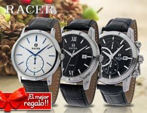 Puntualidad y diseño con un elegante reloj Racer de caballero. ¡No pierdas ni un segundo en aprovechar el descuento que te ofrecemos!