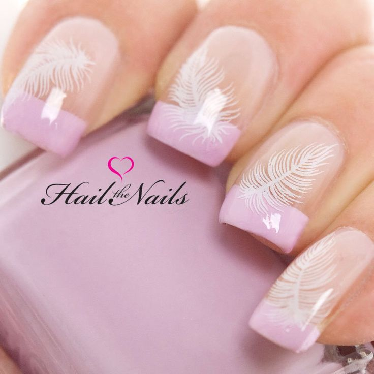 Nail Art encapsule l'eau transferts autocollants Y305 plume blanche Salon mariage de qualité par Hailthenails sur Etsy https://www.etsy.com/fr/listing/187591917/nail-art-encapsule-leau-transferts