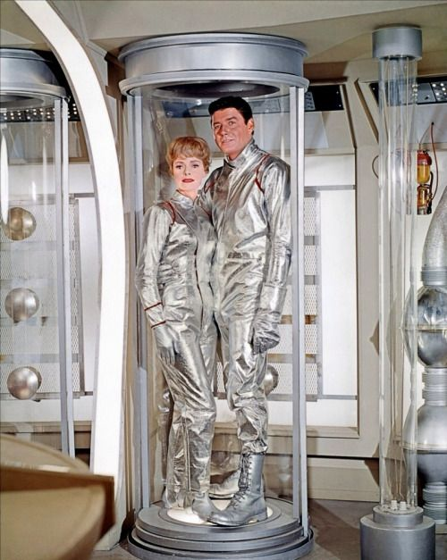June Lockhart and Guy Williams in Lost in Space, 1966