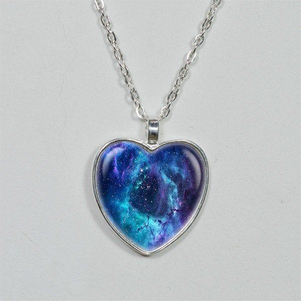 Cosmos Pendant Necklace Universe Pendant Necklace Handmade Pendant Necklace Celestial Necklace Night Sky Necklace Star Pendant Necklace