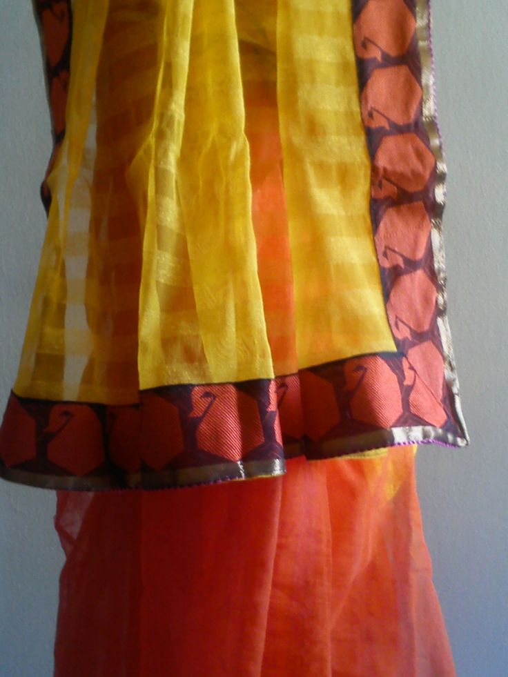 Fancy Jute net saree half half style www.kasavcollections.com