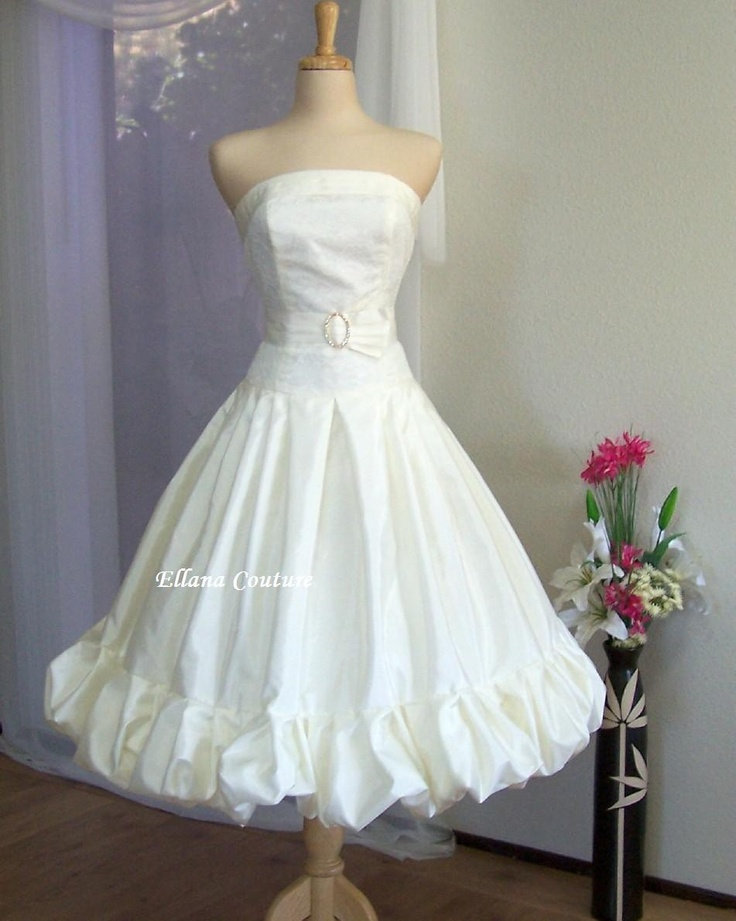 1000 images about one of a kind wedding dresses on for Etsy tea length wedding dress