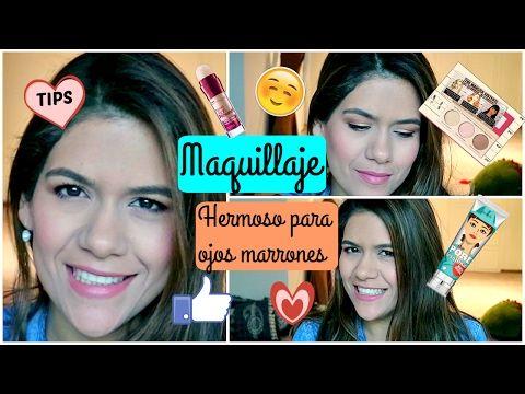 Maquillaje HERMOSO para ojos marrones. Maquillaje completo /  Adriana Gamero - YouTube
