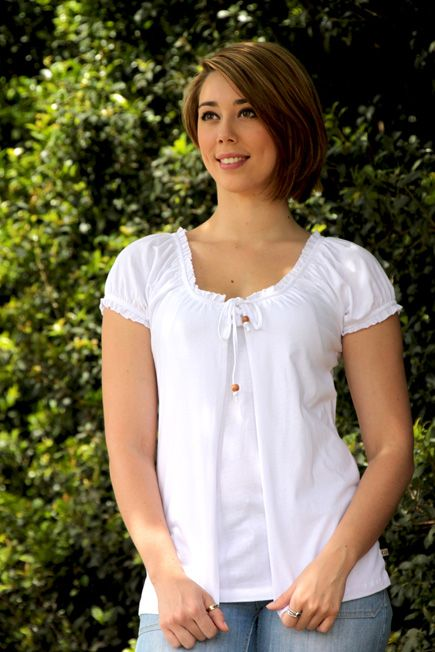 Paige White Maternity Nursing Top   See more at : http://www.goosebumpsclothing.com/shop/belice-maternity-nursing-tops/new-paige-white-maternity-nursing-top/