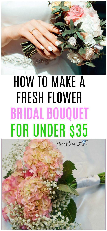 Cómo hacer un ramo de novia de flores frescas por menos de $ 35
