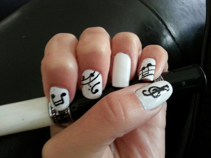 Nail Art Designs Music Notes: Music note nail art designs ideas ...