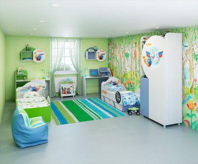 Модульная мебель для детской комнаты Турбо от интернет магазина мебели 1ммтк
