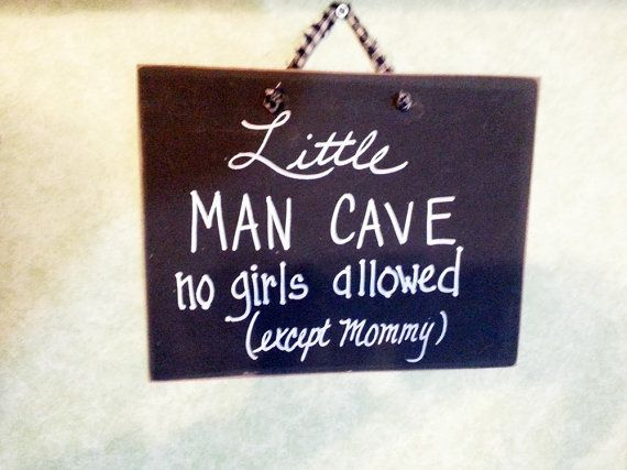 Little man cave boys nursery sign no girls allowed by kpdreams