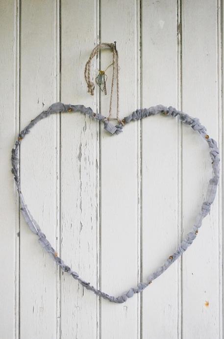 Hjärta grå organza - Walther & Co