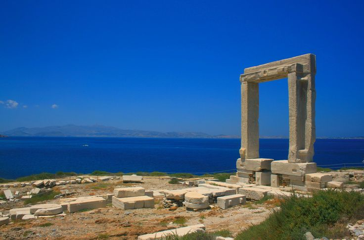 "The famous "" #Portara "", Temple of Apollon #Naxos"