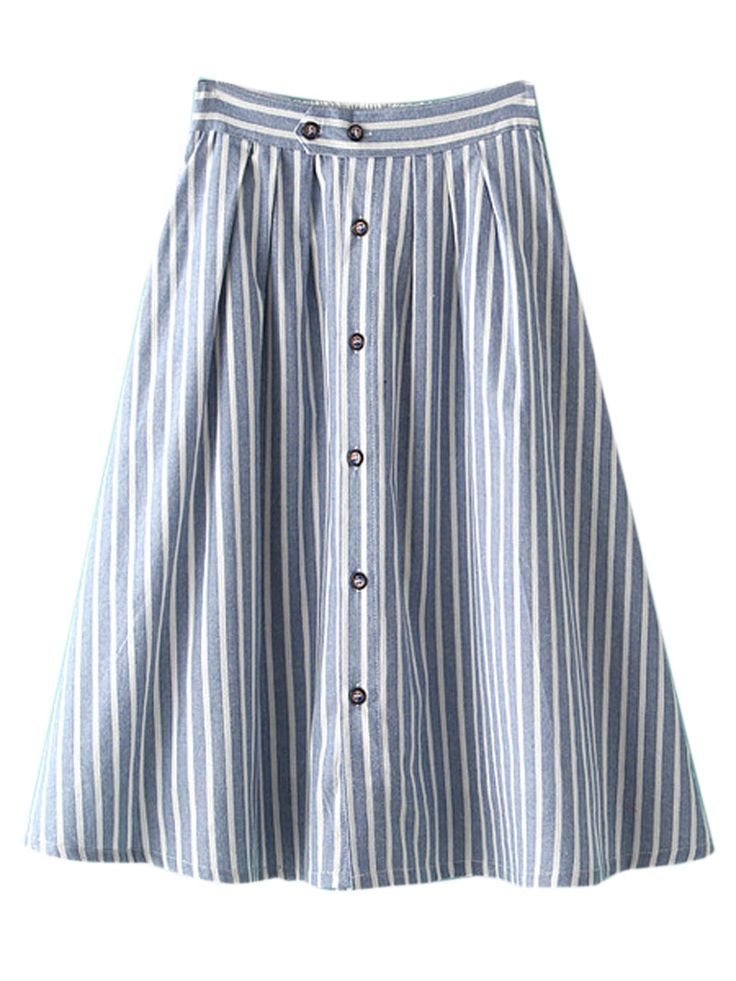 High Waisted Button Up Skirt | Jill Dress