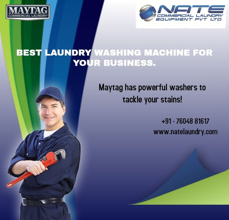 NATE Laundry is the sole distributor of Maytag and Speed Queen Commercial range in India.
