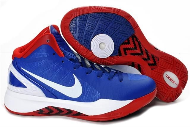 Nike Air Foamposite Shoes Nike Hyperdunk 2011 Blue Red White [Nike Hyperdunk  2011 - Quite modern and unique Nike Hyperdunk 2011 Blue Red White kicks are  ...