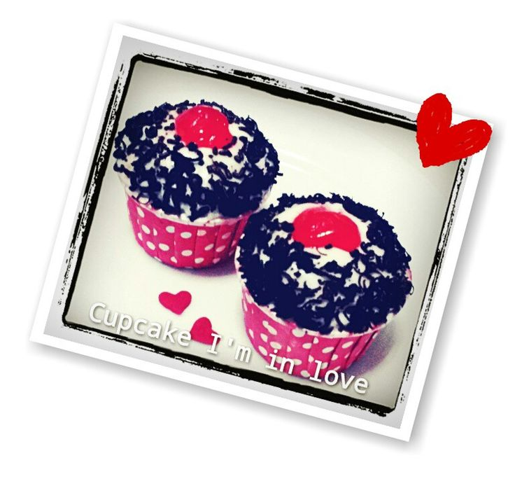 Black forest cupcake stuffed with black cherry.  With minimum order.