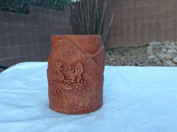 Southwestern lizard torch tiki torch outdoor by EclecticConcrete, $44.00