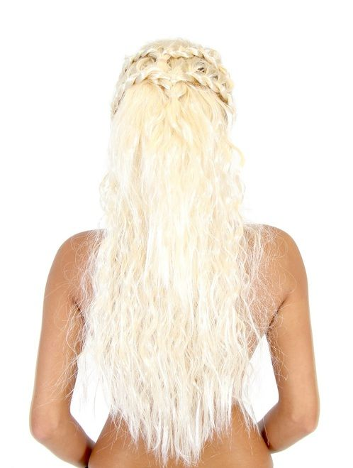 Commemorate your favorite cult classic with an awesome Game of Thrones Khaleesi Daenerys Targaryen DELUXE Costume Wig . Free shipping on Game Of Thrones orders over $50.  #gameofthrones