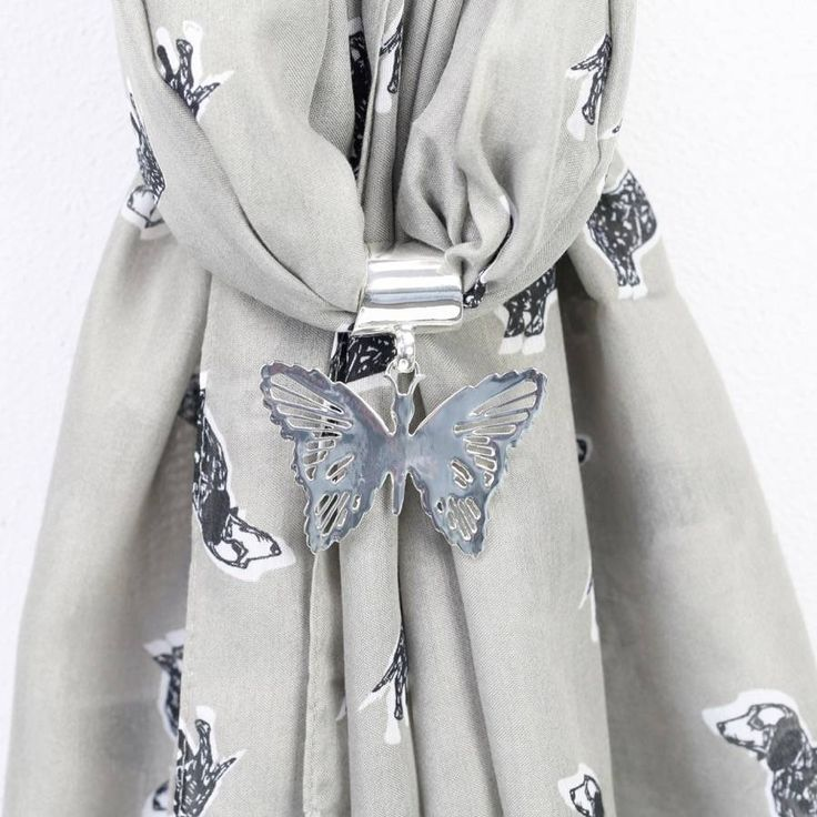 Filigree Butterfly Scarf Ring