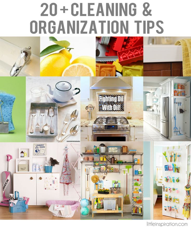 Looking for a little inspiration when it comes to cleaning and organizing? 20+ Cleaning  Organization Tips ought to get you started! Via Little Inspiration