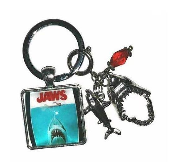 Shark Jaw Bag Charm Personalised Keyring
