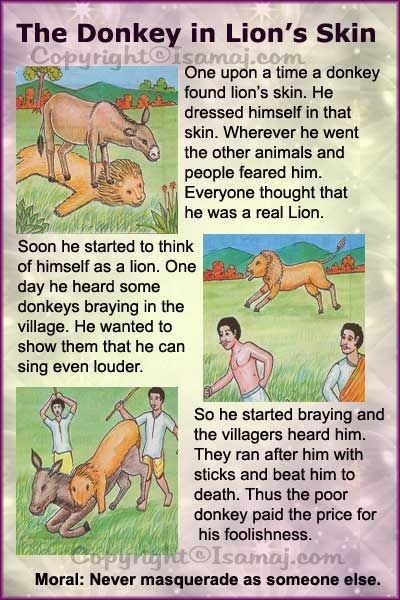 Moral Stories: The Donkey in Lion's Skin
