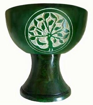 "Green Tree of Life Burner 4"" IB006"