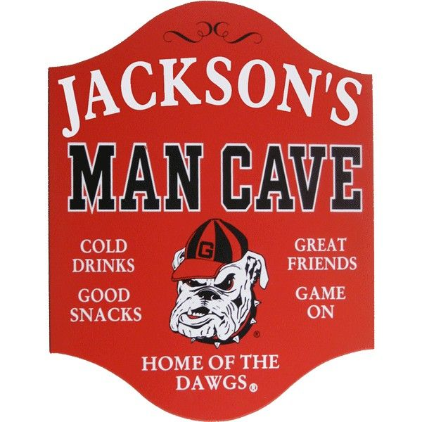 Football Man Cave Gifts : Personalized university of georgia bulldogs man cave sign