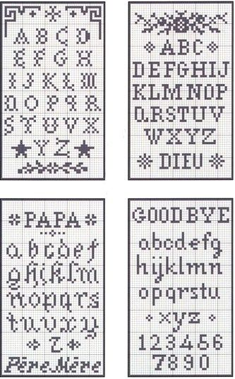 needlepoint alphabet