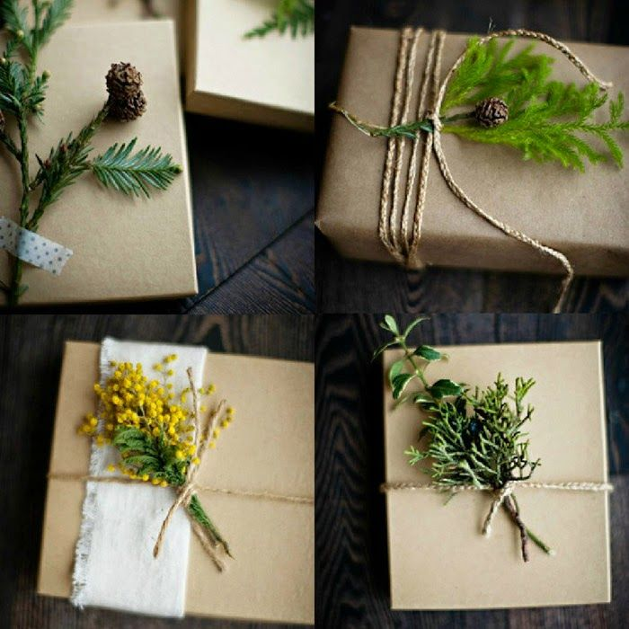 Новогодняя упаковка подарков своими руками: 25 идей с крафт-бумагой / Интерьер / Архимир